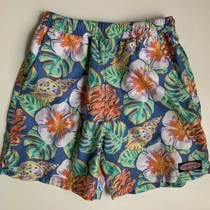 Vineyard Vines Boys Floral Chappy Swim Shorts